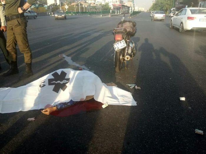 مرگ در بزرگراه شهید سلیمانی تهران