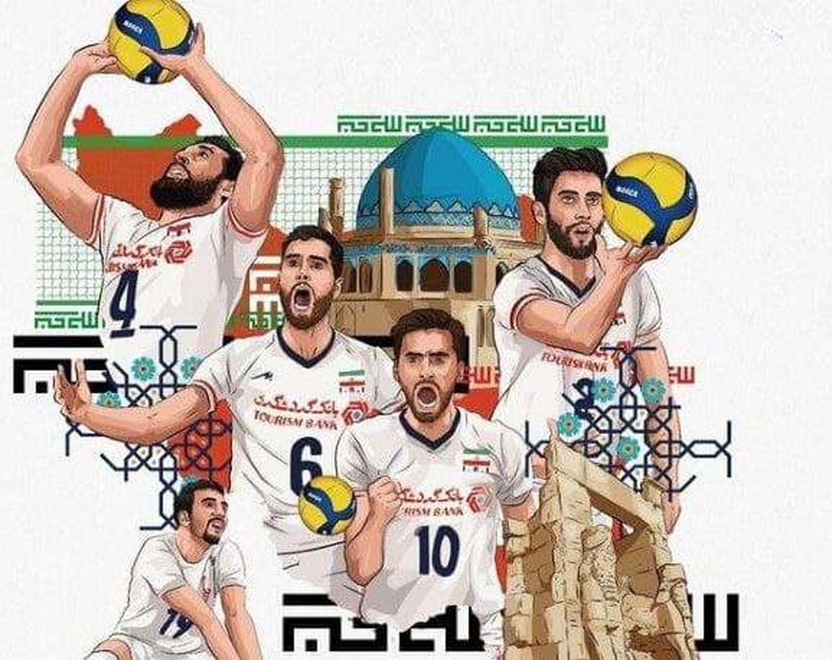 ایران از نگاه فدراسیون جهانی والیبال: پادشاهان والیبال آسیا در توکیو