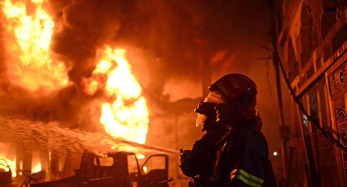 آتش سوزی سه باب خانه ویلایی در بلوار شهید افتخاری رشت