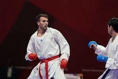 جدال بهمن عسگری برای مدال برنز لیگ جهانی کاراته در کانادا
