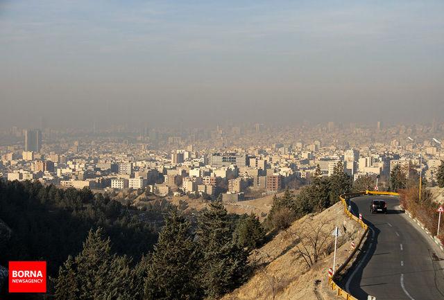 آلودگی هوای تهران از روز دوشنبه