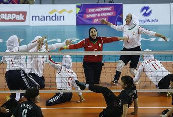 دیدار تیم های والیبال ایران و ژاپن / پاراآسیایی جاکارتا ۲۰۱۸