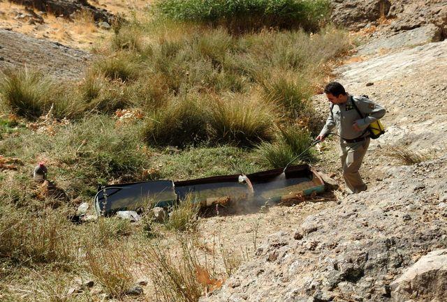 ضد عفونی آبشخورهای مناطق کوهستانی آبیک
