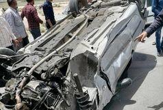 واژگونی خودرو در شرق اصفهان/ حریق در کارگاه آهنگری بدون مصدوم اطفاء شد
