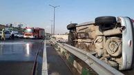 برخورد 2 خودرو سواری در تهران حادثه آفرید