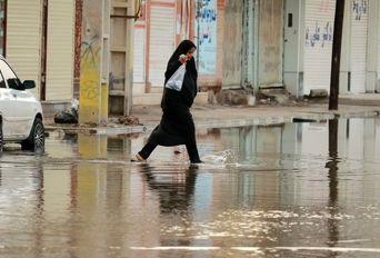 آبادان ۲۴ ساعت پس از بارندگی