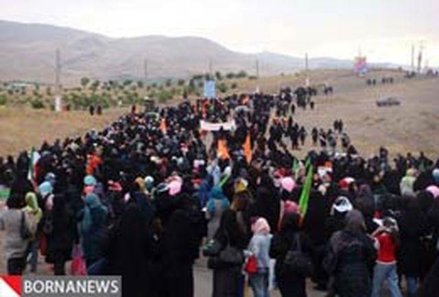 پیاده روی خواهران بجنوردی در استقبال از روز زن برگزار شد
