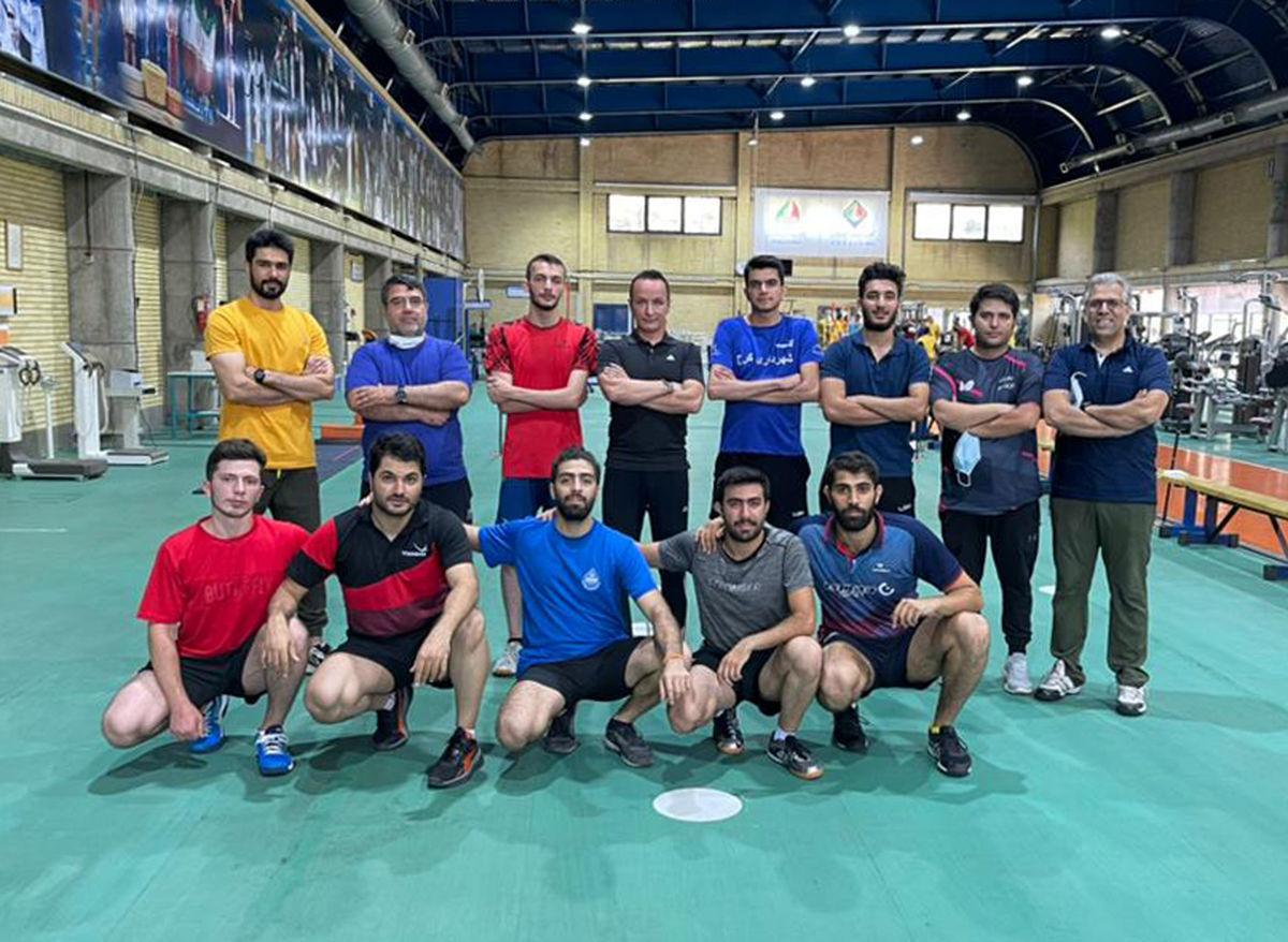 اعضای تیم ملی تنیس روی میز آقایان تست دادند