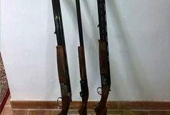کشف وضبط سه قبضه اسلحه شکاری در لاهیجان