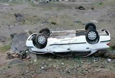 واژگونی یک دستگاه سواری سمند در اتوبان زنجان – قزوین