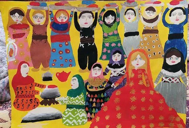 مدال نقره «جشنوارهی جهانی نقاشی کودک کرمان» به عضو کانون آذربایجانغربی رسید