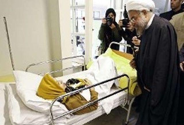 رییس جمهور از بیماران بخش عمومی بیمارستان امام خمینی(ره) عیادت کرد