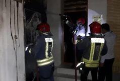 آتش سوزی کانکس دبیرستان پردیس اهواز/علت حادثه در دست بررسی است+ببینید
