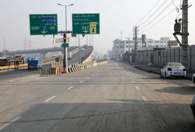 بازگشایی فاز دیگری ازتقاطع پل باقر شهر و ایجاد مسیر انحرافی