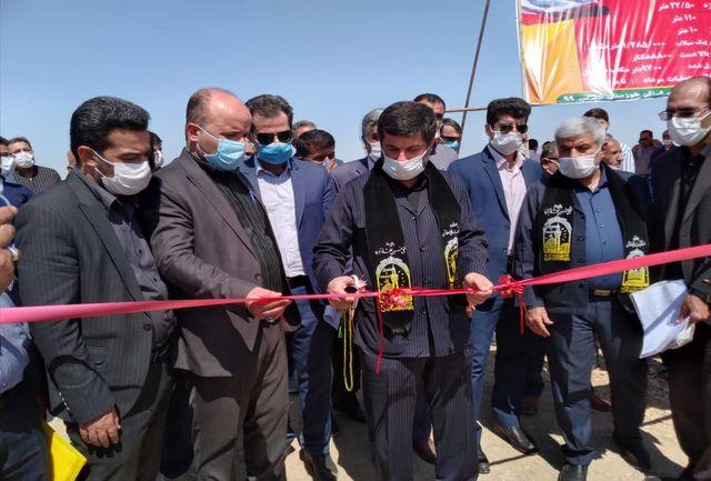 افتتاح و کلنگ زنی پروژه های عمرانی شهرستان آغاجاری با حضور استاندار خوزستان