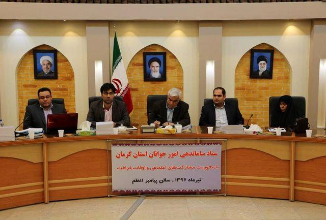 خانه های جوان در کرمان و شهرستان ها راه اندازی می شود