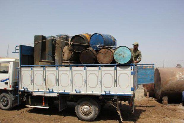 کشف بیش از ۱۲۷ هزار لیتر بنزین قاچاق در مرز باشماق