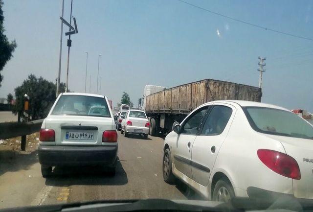 ترافیک در خروجی مشهد پر حجم است
