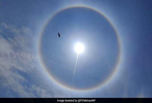 پدیده عجیبی که به دور خورشید ایجاد شد! + عکس