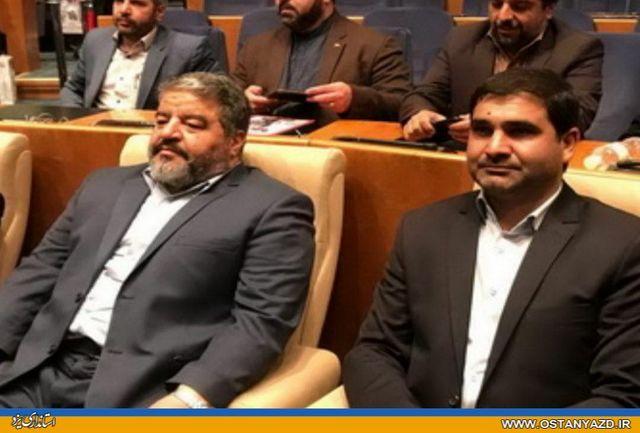 تجلیل از مدیرکل پدافند غیرعامل استانداری یزد بهعنوان رتبه برتر کشوری