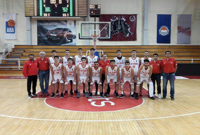 در دیداری دوستانه؛ تیم ملی نوجوانان بسکتبال ایران برابر تیم صربستان شکست خورد