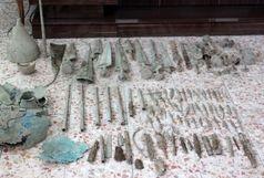 کشف 99 قطعه اشیای تاریخی در خلخال