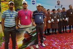 ادای احترام جوانان گلفباز ایران به شهید سپهد سلیمانی