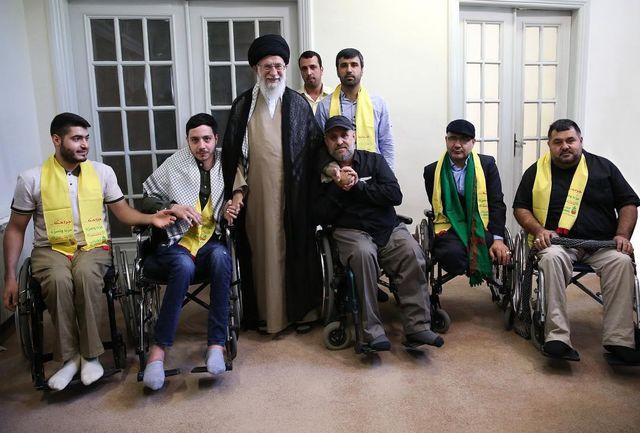 رهبرانقلاب با جانبازان حزبالله لبنان دیدار کردند