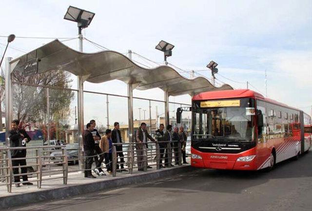 تصادف وحشتناک اتوبوس بی آر تی با عابر پیاده در غرب تهران