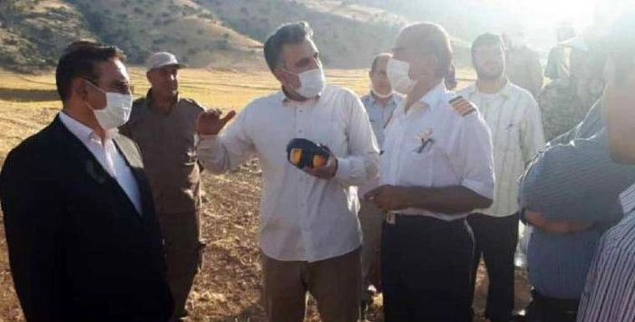 اطفاء کامل آتش سوزی منطقه گَوَر و گاچال  کوهدشت
