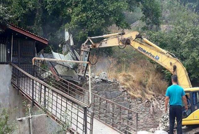 رفع تصرف 18 هزار متر مربع از اراضی حریم و بستر رودخانه جاجرود