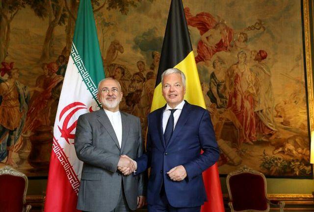 دیدار ظریف با همتای بلژیکی خود