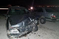برخورد 2 خودرو پژو 5 نفر را راهی بیمارستان کرد