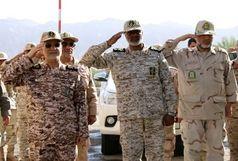 بازدید نماینده ستاد کل نیروهای مسلح از مرز میرجاوه