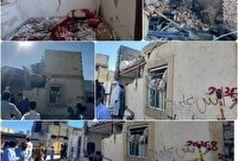 انفجار لوله گاز شهری در خیابان کوثر زاهدان