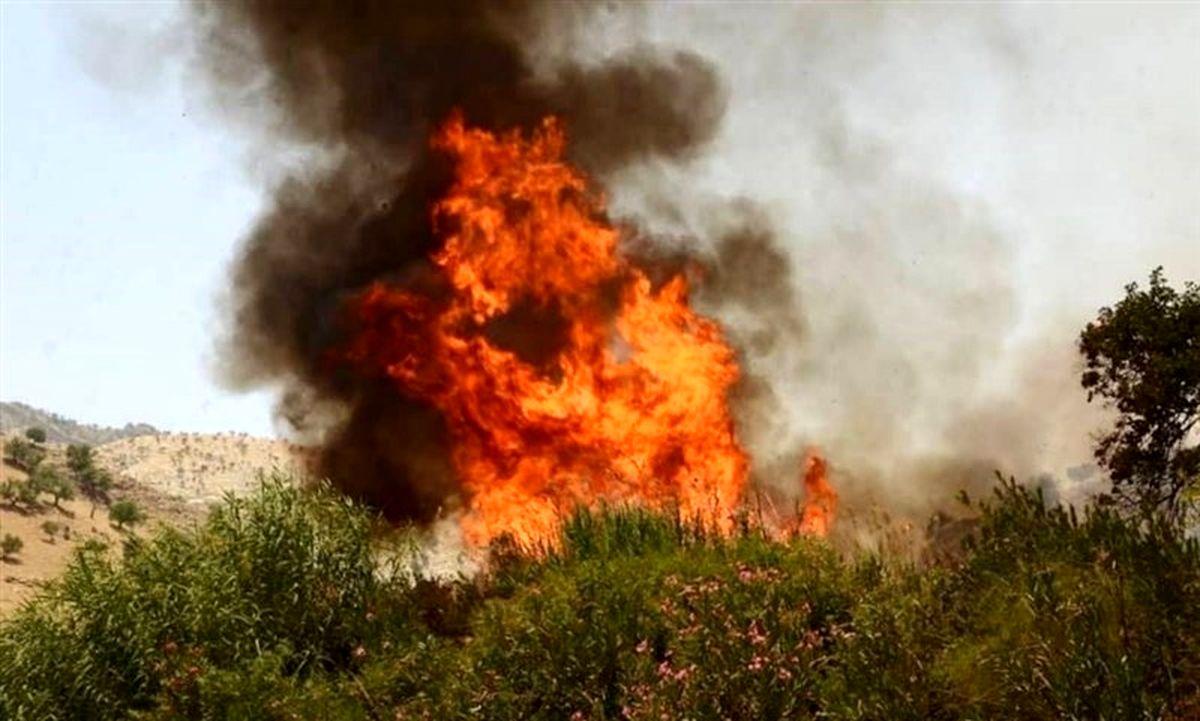 آماده باش ۳۰۰ تکاور سپاه پاسداران برای مقابله با آتش سوزی در گچساران
