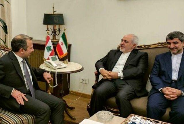 در بیروت؛ ظریف با وزیر خارجه لبنان دیدار کرد