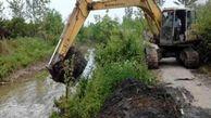 آغاز لایروبی و ساماندهی 5 کیلومتر از رودخانه گرگانرود در شهر آق قلا