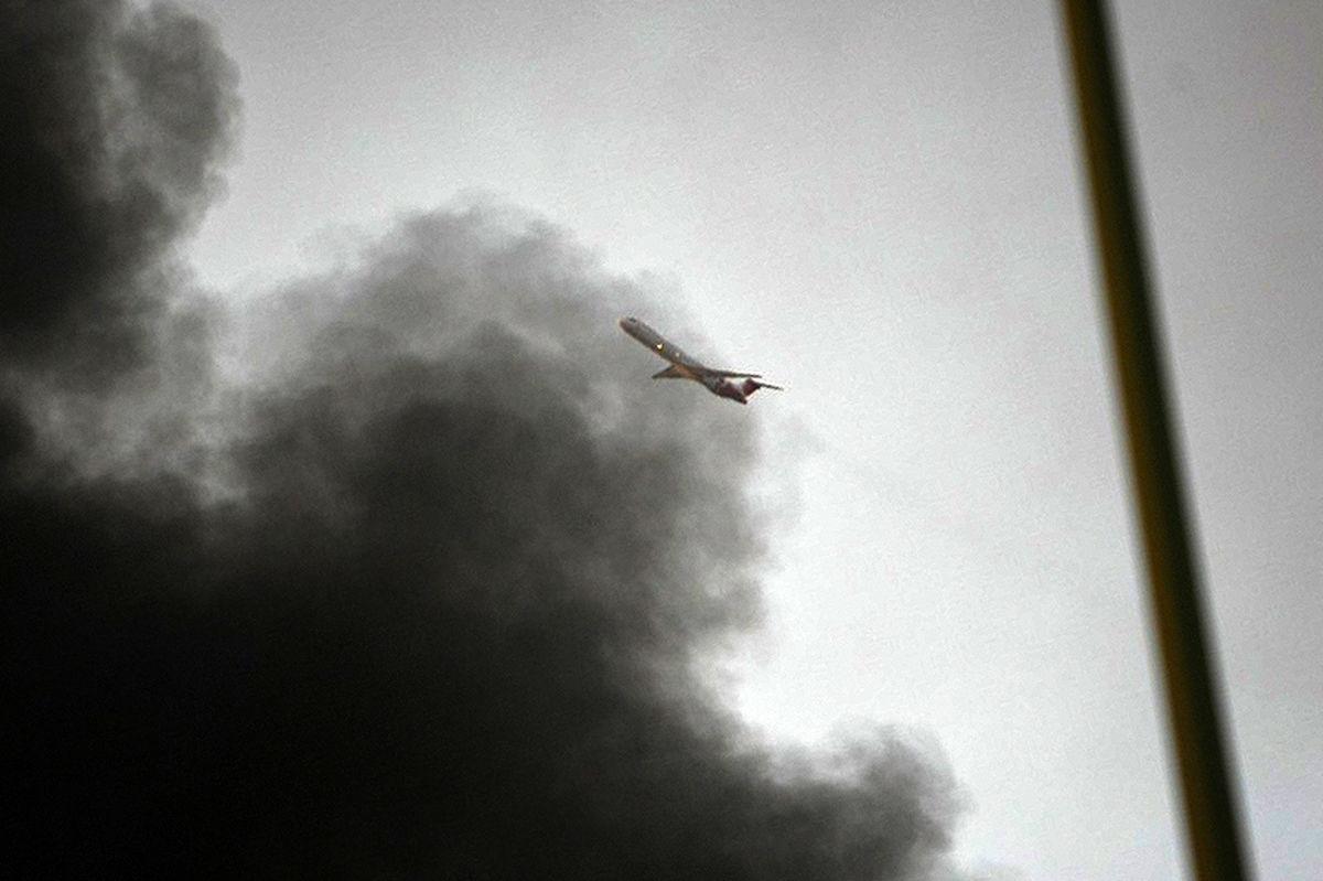 آتشسوزی بزرگ در ساختمان وزارت بهداشت +ویدیو
