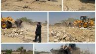رفع تصرف 6240 مترمربع اراضی خالصه دولتی به ارزش 9.3 میلیارد ریال در روستای رمکان قشم
