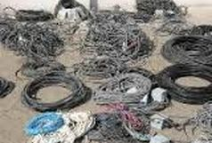 کشف محموله سیم و کابل برق قاچاق از