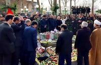 مراسم تشییع و خاکسپاری پیکر مطهر شهید گمنام در محل فدراسیون کشتی برگزار شد