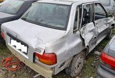 جانباختن راننده پراید بر اثر واژگونی