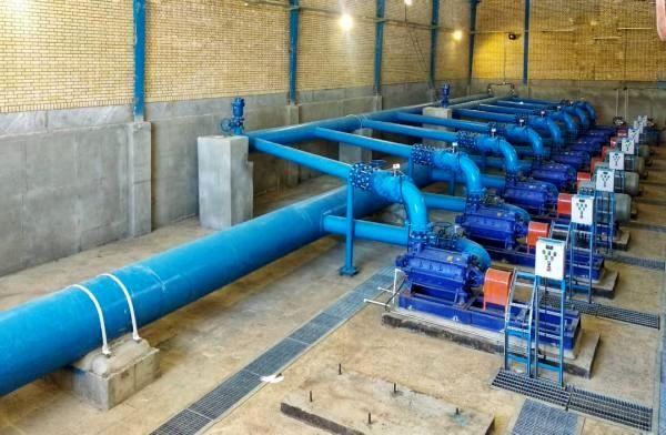 بهره برداری از طرح انتقال آب به تازیان و روستاهای شمال شهر بندرعباس