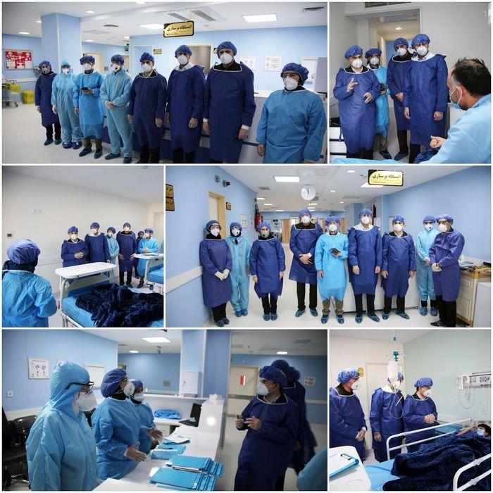 عیادت رییس دانشگاه علوم پزشکی اردبیل از بیماران مشکوک به کورونا در اردبیل