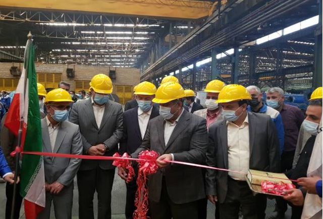 خط تولید ورق استنلس استیل در کارخانه هفت الماس قزوین افتتاح شد