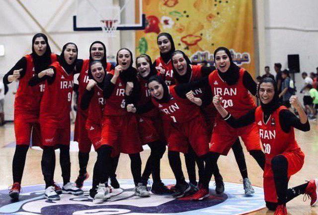 بانوان بسکتبالیست ایران مقابل اردن به برتری رسیدند