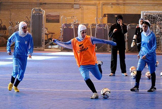 برگزاری تمرین تیم ملی فوتسال بانوان پیش از دیدار با روسیه