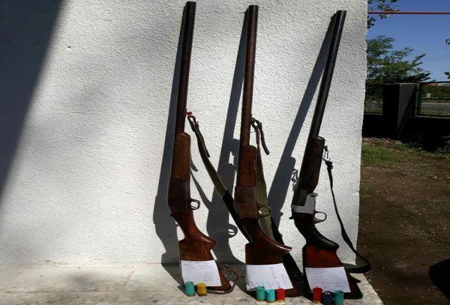 ۳۶ قبضه سلاح شکاری از شکارچیان متخلف کشف و ضبط شد