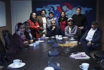 حضور بازیگران و عوامل سریال « حکایت های کمال » در خبرگزاری برنا